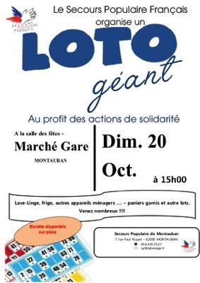 LOTO GÉANT #Montauban @ Salle des Fêtes du Marché Gare