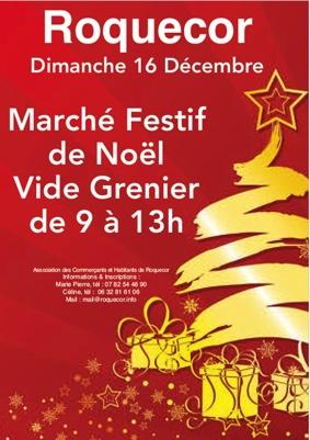 MARCHÉ FESTIF DE NOËL #Roquecor @ Au village