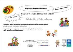 MATINÉE JEUX PARENTS-ENFANTS #Verdun-sur-Garonne @ Salle des fêtes