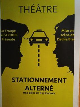 """PIÈCE """"STATIONNEMENT ALTERNÉ"""" #Montbeton @ Espace Jean Bourdette"""