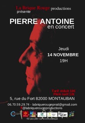 PIERRE ANTOINE EN CONCERT AU FORT #Montauban @ LE FORT