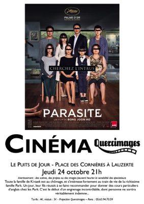 """PROJECTION DU FILM """"PARASITE"""" #Lauzerte @ le Puits de Jour"""