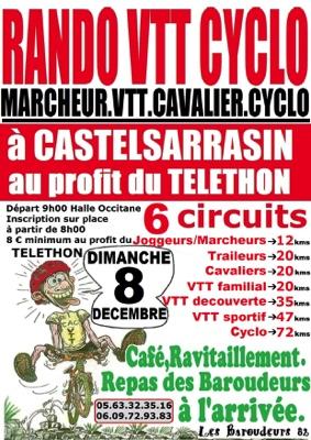 RANDO AU PROFIT DU TELETHON #Castelsarrasin @ Halle Occitane