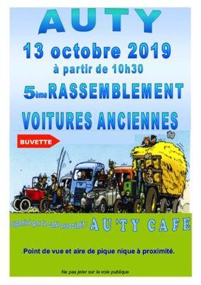 RASSEMBLEMENT DES VOITURES ANCIENNES #Auty @ Place de la mairie