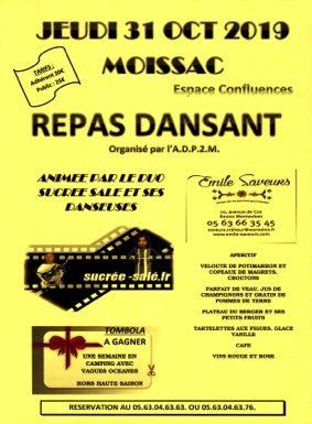 REPAS DANSANT #Moissac @ ESPACE CONFLUENCES