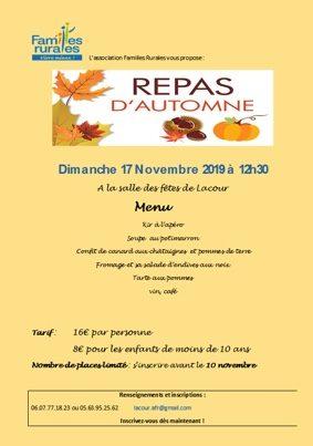 REPAS D'AUTOMNE #Lacour @ Salle des fêtes