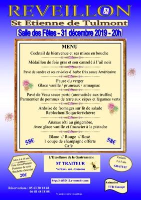 RÉVEILLON 2019 #Saint-Étienne-de-Tulmont @ salle des fêtes