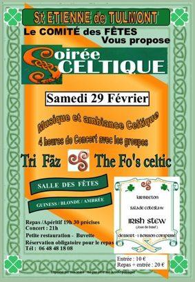 SOIRÉE CELTIQUE #Saint-Étienne-de-Tulmont @ Salle des Fêtes