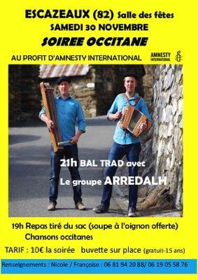 SOIREE OCCITANE ET BAL TRAD #Escazeaux @ Salle des Fêtes