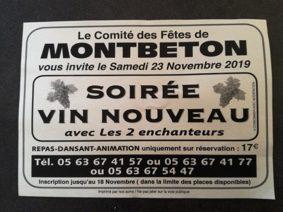 SOIRÉE VIN NOUVEAU #Montbeton @ Espace Jean Bourdette