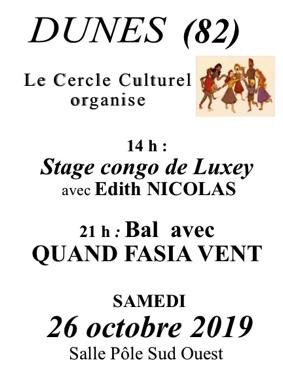 STAGE CONGO DE LUXEY #Dunes @ Salle des Fêtes