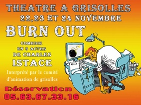 "THÉÂTRE : ""BURN OUT"" #Grisolles @ Centre Socioculturel"