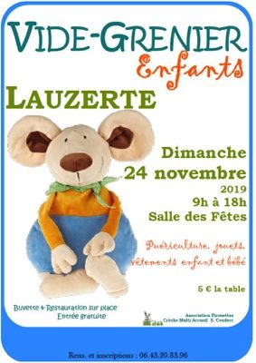 VIDE-GRENIER ENFANT #Lauzerte @ Salle des fêtes