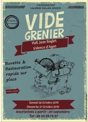 VIDE-GRENIER #Valence-d'Agen @ Halle Jean Baylet