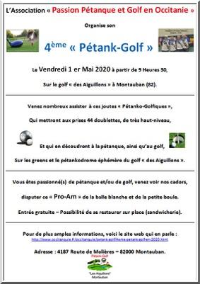 4ème COMPÉTITION DE PÉTANK-GOLF #Montauban @ Golf des Aiguillons à Montauban
