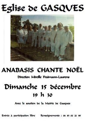 ANABASIS CHANTE NOËL #Gasques @ Eglise de Gasques