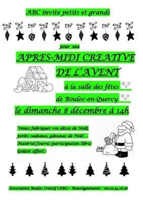 APRÈS-MIDI CRÉATIVE DE L'AVENT #Bouloc-en-Quercy @ Salle des fêtes