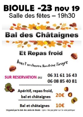 BAL DES CHÂTAIGNES #Bioule @ Salle des fêtes