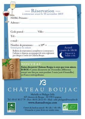 BALADE AU CLAIR DE LUNE #Campsas @ Château Boujac
