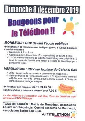 BOUGEONS POUR LE TÉLÉTHON #Monbéqui @ Ecole de Monbéqui