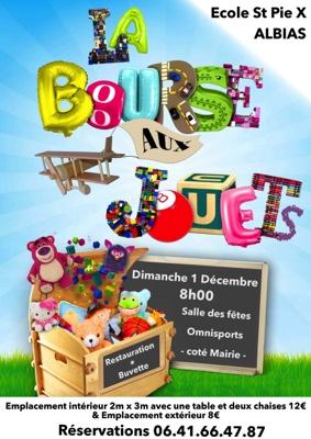 BOURSE AUX JOUETS ECOLE SAINT PIE X #Albias @ Salle des Fêtes Omnisports