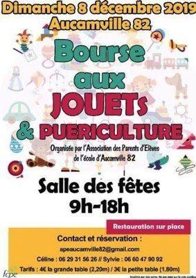 BOURSE AUX JOUETS ET À LA PUÉRICULTURE #Aucamville @ Salle des Fêtes