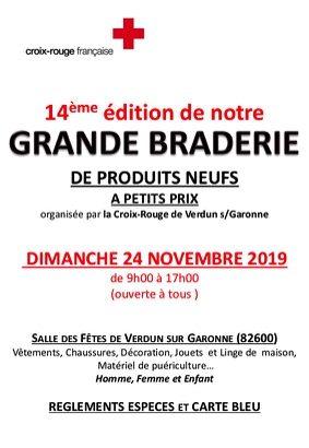 BRADERIE PRODUITS NEUFS #Verdun-sur-Garonne @ salle des fêtes