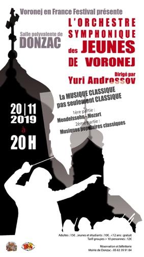 CONCERT ORCHESTRE SYMPHONIQUE DE VORONEJ #Donzac @ Salle polyvalente