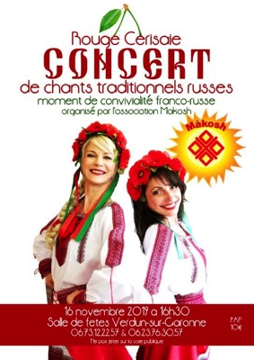 CONCERT DE CHANTS TRADITIONNELS RUSSES #Verdun-sur-Garonne @ salle de fêtes