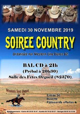 COUNTRY SOIRÉE CD #Orgueil @ Salle des fêtes