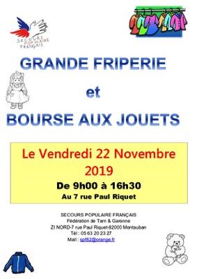 GRANDE FRIPERIE ET BOURSE AUX JOUETS #Montauban @ Secours Populaire de Montauban