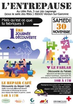 JOURNÉE DÉCOUVERTE GRATUITE FAB LAB ET REPAIR CAFE #Verdun-sur-Garonne @ Little Pub
