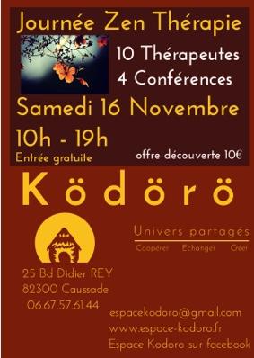 JOURNÉE ZEN THÉRAPIE #Caussade @ Espace Kodoro