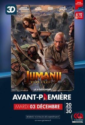 JUMANJI : NEXT LEVEL EN AVANT-PREMIÈRE EN 3D #Montauban @ CGR MONTAUBAN