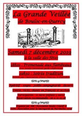 LA GRANDE VEILLÉE #Bouloc-en-Quercy @ Salle des fêtes