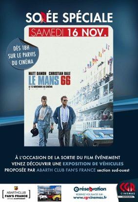 LE MANS 66 - EXPOSITION DE VOITURES #Montauban @ CGR MONTAUBAN