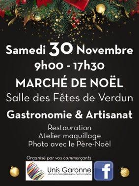 MARCHÉ DE NOËL DE VERDUN SUR GARONNE #Verdun-sur-Garonne @ Salle des fêtes
