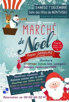 MARCHÉ DE NOËL ET ANIMATIONS #Montaigu-de-Quercy @ Salle des fêtes