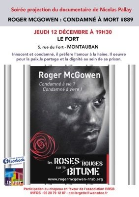 "PROJECTION DU DOCUMENTAIRE ""ROGER MCGOWEN : CONDAMNÉ À MORT #889 #Montauban @ Le Fort"