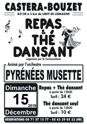 REPAS ET THE DANSANTS ANIMES PAR PYRENEES MUSETTE #Castéra-Bouzet @ salle des fêtes
