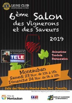 SALON DES VIGNERONS ET DES SAVEURS #Montauban @ Salle des Fêtes Marché Gare