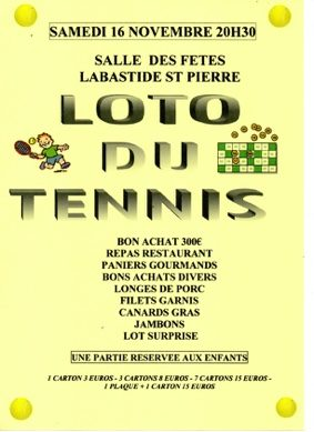 SUPER LOTO #Labastide-Saint-Pierre @ FOYER RURAL