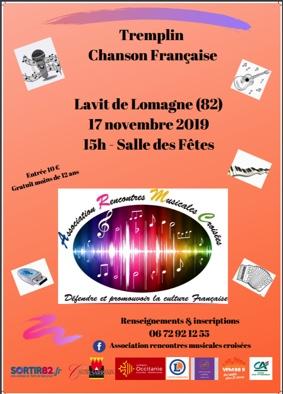 TREMPLIN CHANSON FRANÇAISE #Lavit-de-Lomagne @ Salle des Fêtes