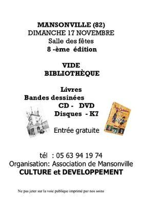 VIDE BIBLIOTHEQUE #Mansonville @ Place du Village