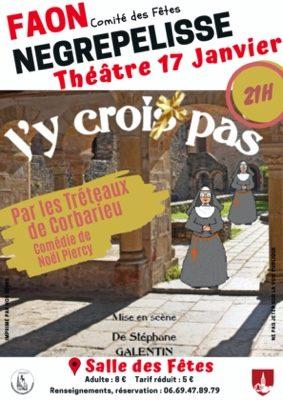 COMÉDIE J'Y CROIX PAS #Nègrepelisse @ Salle des Fêtes