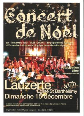 CONCERT DE NOËL #Lauzerte @ Eglise St-Barthelemy