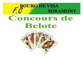 CONCOURS DE BELOTE DU FOOTBALL CLUB #Bourg-de-Visa @ Salle des fêtes