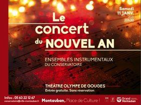 LE CONCERT DU NOUVEL AN #Montauban @ Théâtre Olympe de Gouges