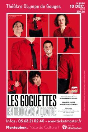 LES GOGUETTES EN TRIO MAIS À QUATRE ! #Montauban @ Théâtre Olympe de Gouges