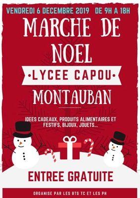 MARCHÉ DE NOËL DU LYCÉE CAPOU #Montauban @ Lycée Agricole Capou